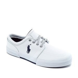 POLO RALPH LAUREN Faxon Low White Leather Sneakers
